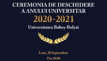 Deschiderea anului universitar 2020 – 2021 la UBB
