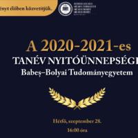 A 2020–2021-es tanév nyitóünnepsége a BBTE-n